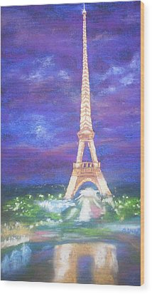 Madelein's France Wood Print by Becky Chappell