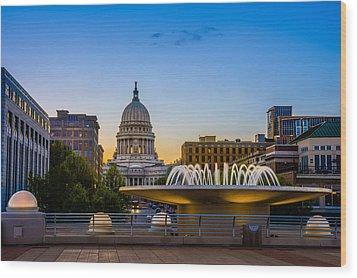Madison Domes Wood Print by Mark Goodman