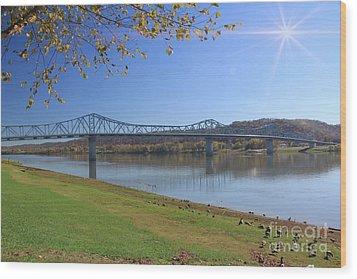 Madison, Indiana Bridge  Wood Print