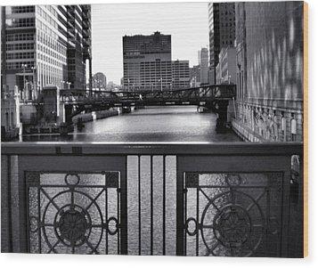 Madison Street Bridge - 3 Wood Print by Ely Arsha