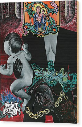 Madonna And Child Wood Print by Yelena Tylkina