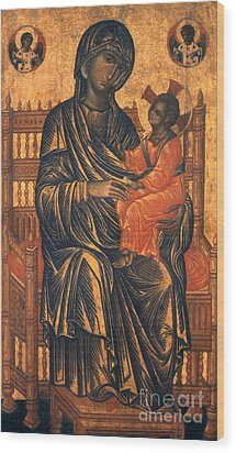Madonna Icon, 13th Century Wood Print by Granger