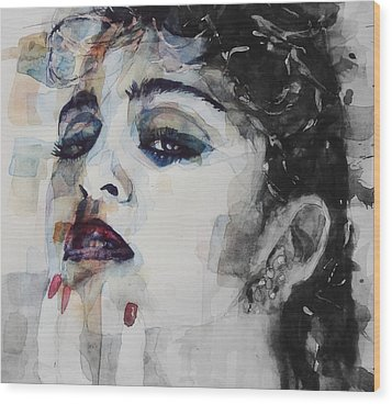 Wood Print featuring the mixed media Madonna  Like A Prayer by Paul Lovering