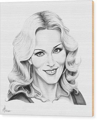 Madonna Wood Print by Murphy Elliott