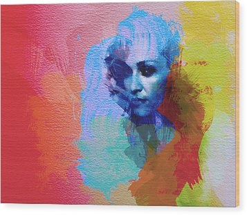 Madonna Wood Print by Naxart Studio