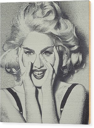Madonna Wood Print by Randy Ford