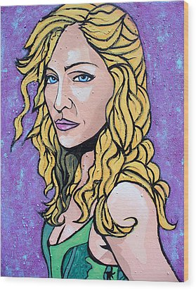 Wood Print featuring the painting Madonna by Sarah Crumpler