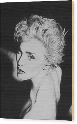 Madonna Wood Print by Steve Hunter