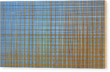 Madras Plaid Wood Print