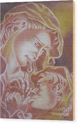 Madre Y El Nino Wood Print