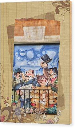 Madrid Wall Art Wood Print by Joan Carroll