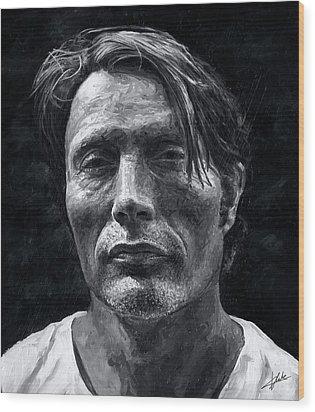 Mads Mikkelsen Wood Print