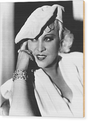 Mae West, Paramount Pictures, Ca. Mid Wood Print by Everett