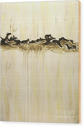 Maelstrom Original Contemporary Modern Abstract Painting Wood Print by Itaya Lightbourne