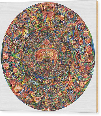 Maeyea Wood Print by Jonathan 'DiNo' DiNapoli