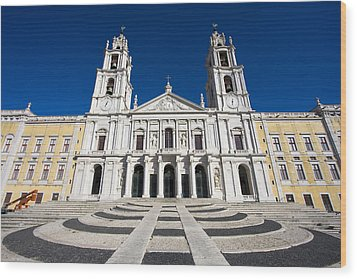 Mafra Palace Wood Print by Andre Goncalves