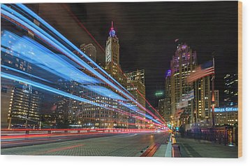 Wood Print featuring the photograph Mag Mile Warp Speed by Sean Foster