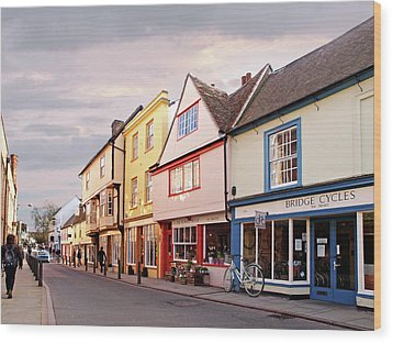 Wood Print featuring the photograph Magdalene Street Cambridge by Gill Billington