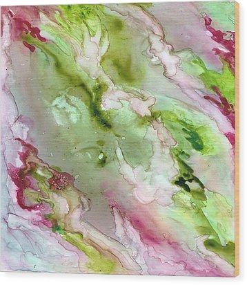 Magenta Ribbons Wood Print by Rosie Brown