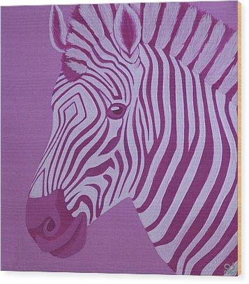 Magenta Zebra Wood Print