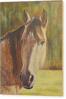 Maggie, Horse Portrait Wood Print
