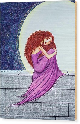 Maggie's Lullaby Wood Print by Danielle R T Haney