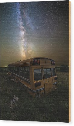Wood Print featuring the photograph Magic Bus by Aaron J Groen
