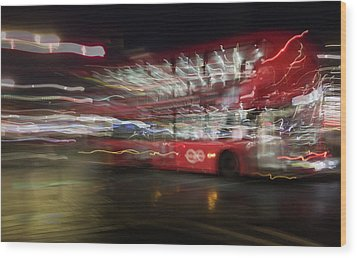 Wood Print featuring the photograph Magic Bus by Alex Lapidus
