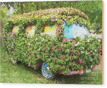 Magic Bus Wood Print by Debbi Granruth