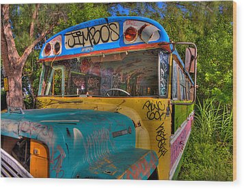 Magic Bus Wood Print by William Wetmore