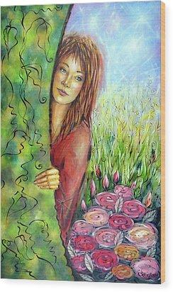 Magic Garden 021108 Wood Print by Selena Boron