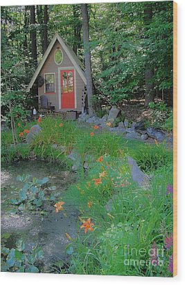 Wood Print featuring the photograph Magic Garden by Susan Carella