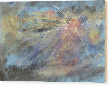 Magic In The Skies Wood Print by Angela A Stanton