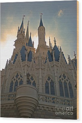 Magic Kingdom - Cinderella Castle Wood Print