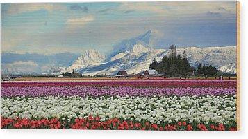 Magic Landscape 1 - Tulips Wood Print by Rick Lawler