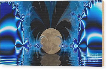 Magic Moon Wood Print