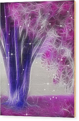 Wood Print featuring the digital art Magic Myrtle by Wendy J St Christopher