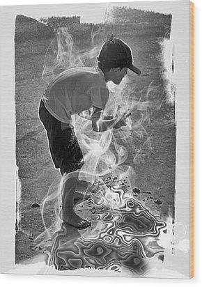 Magic Sand Wood Print by Gordon Engebretson