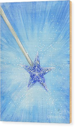 Wood Print featuring the painting Magic Wand by Cindy Garber Iverson