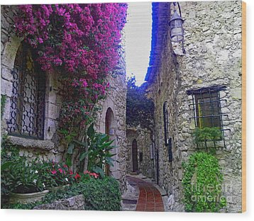 Magical Beauty In Eze France Wood Print