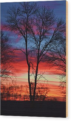 Magical Colors In The Sky Wood Print