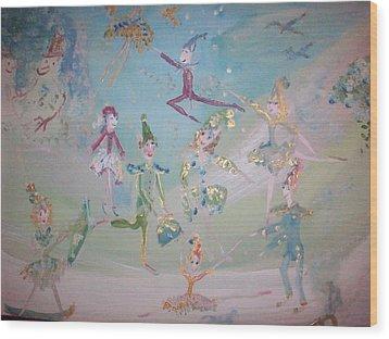 Magical Elf Dance Wood Print by Judith Desrosiers
