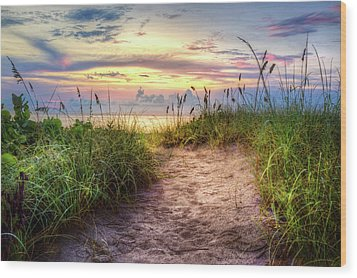 Wood Print featuring the photograph Magical Light In The Dunes by Debra and Dave Vanderlaan