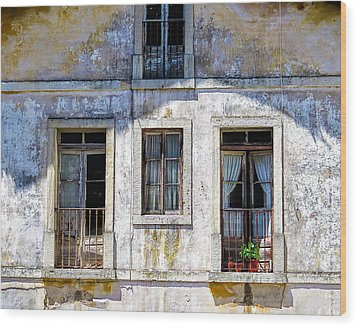 Wood Print featuring the photograph Magical Light On Sintra Windows by Marion McCristall