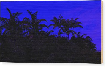 Magical Miami Wood Print by Lessandra Grimley