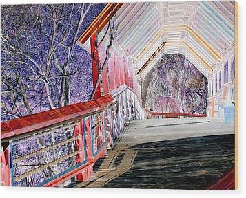 Magical Mystery Bridge Wood Print