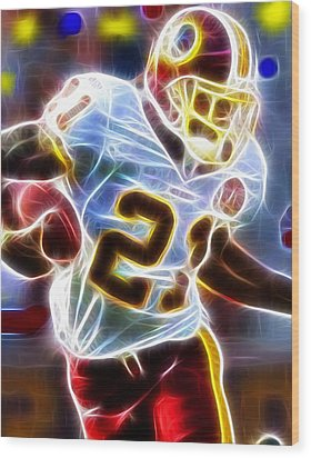 Wood Print featuring the painting Magical Sean Taylor by Paul Van Scott