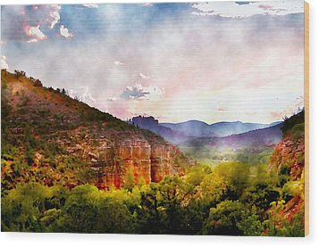 Magical Sedona Wood Print