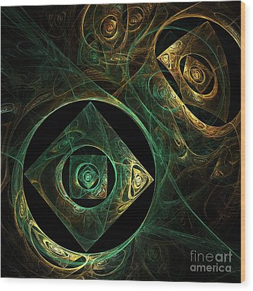 Magical Vibrations Wood Print by Oni H