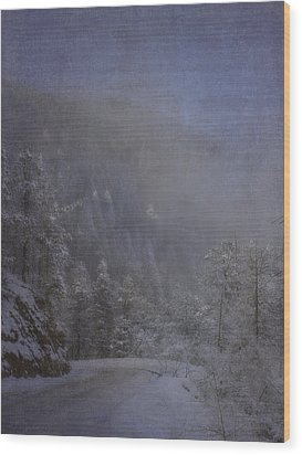 Wood Print featuring the photograph Magical Winter Day by Ellen Heaverlo